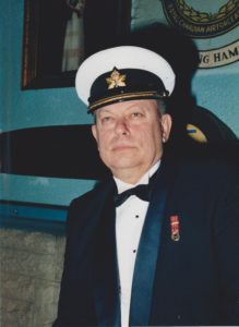Lt (N) Begley in Naval Mess Kit
