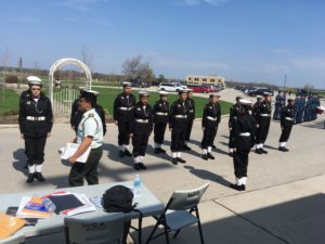 Cadets Inspection as part of drill competition
