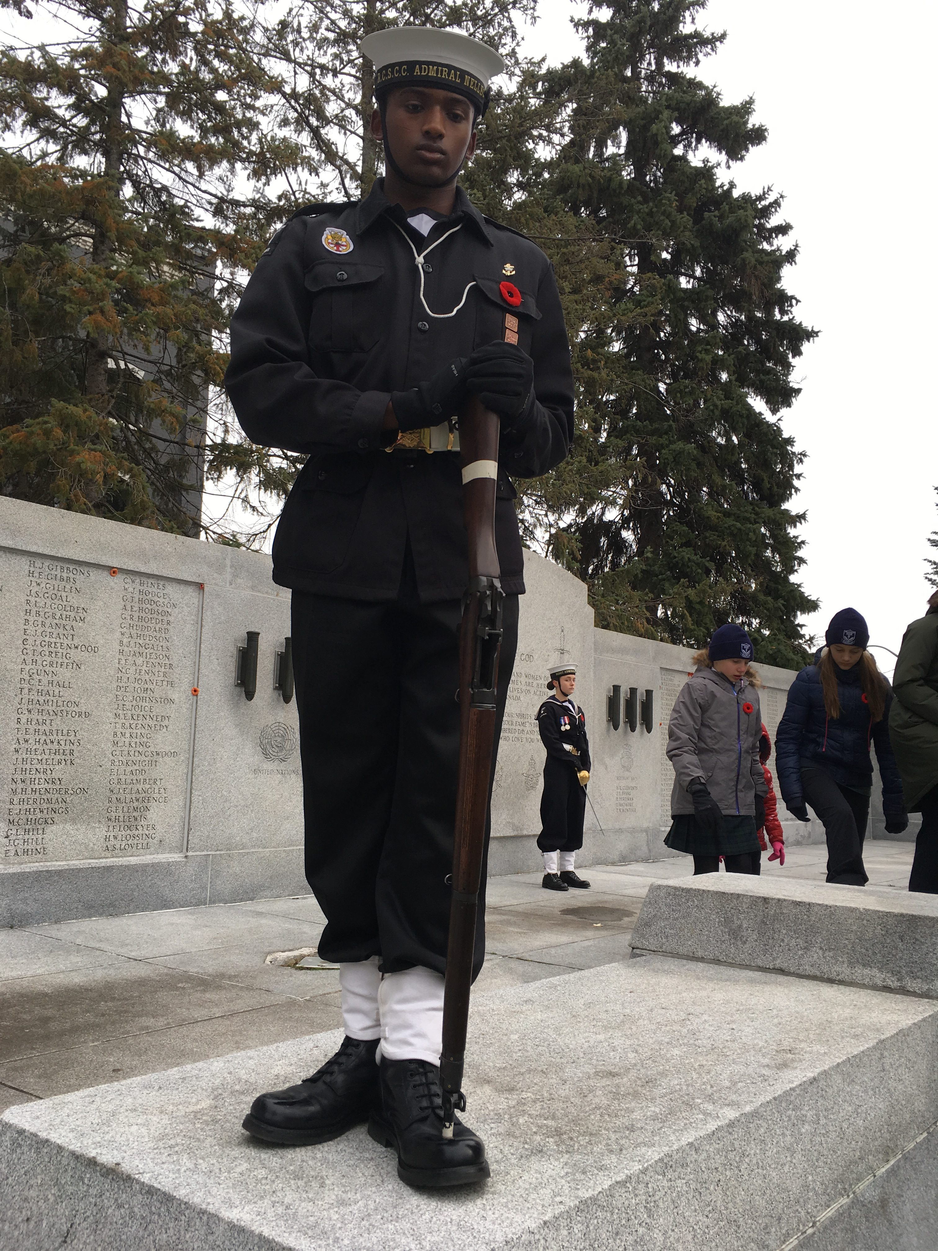 PO2 Loftman on cenotaph