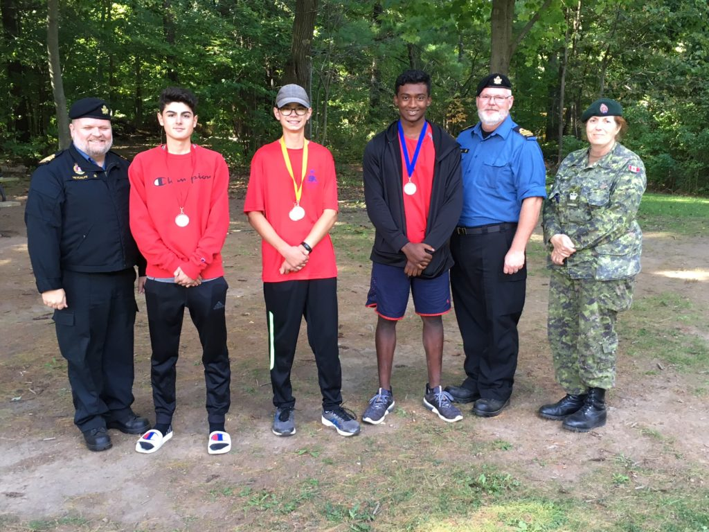 Presentation of medals, Loftman 3rd from right won 2nd in 15-16 year old category