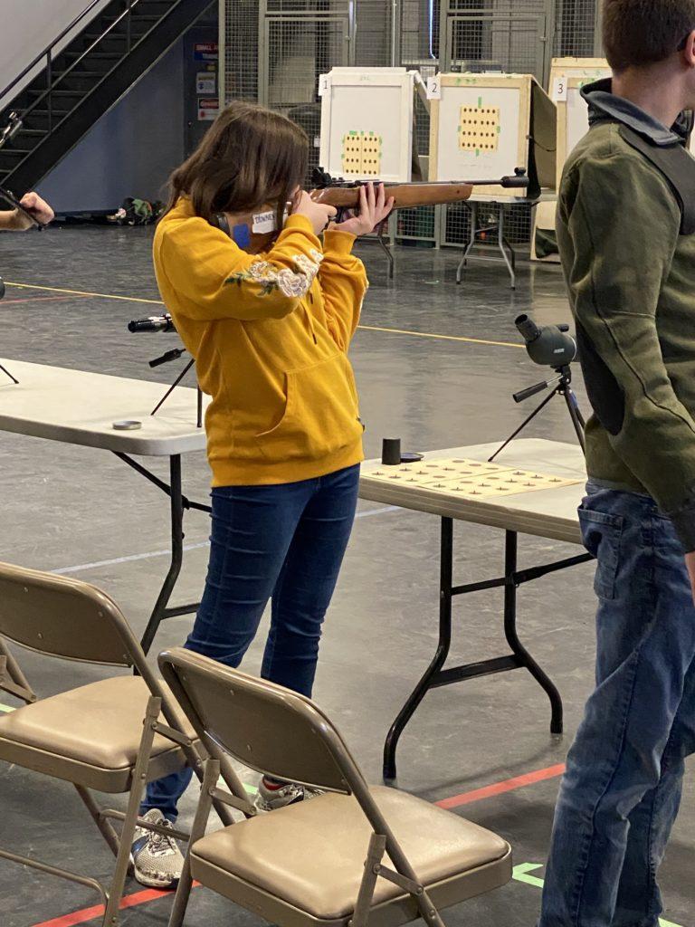 Waite shooting standing