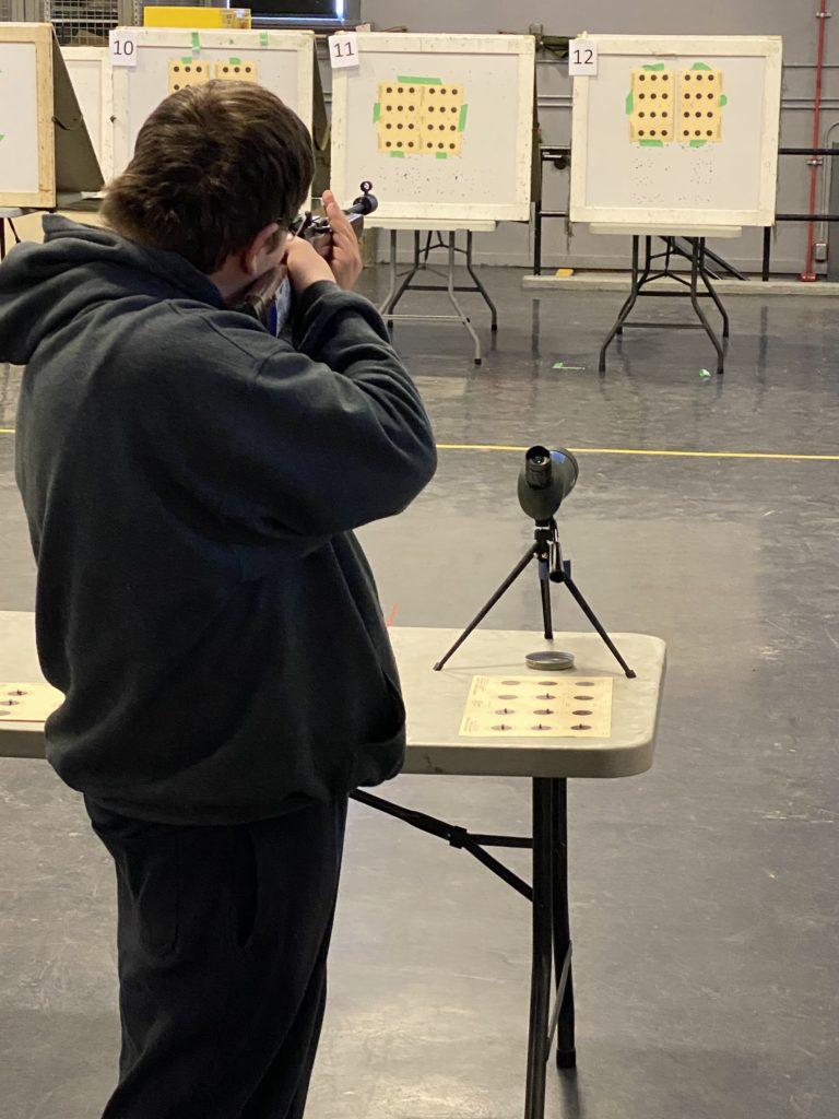 Rock shooting standing